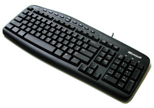MS Wired Keyboard Win32 (PS/2) CZ Black